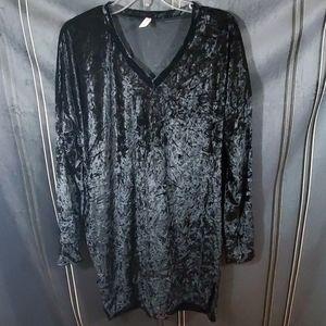 Bellamie black crushed velvet mini dress